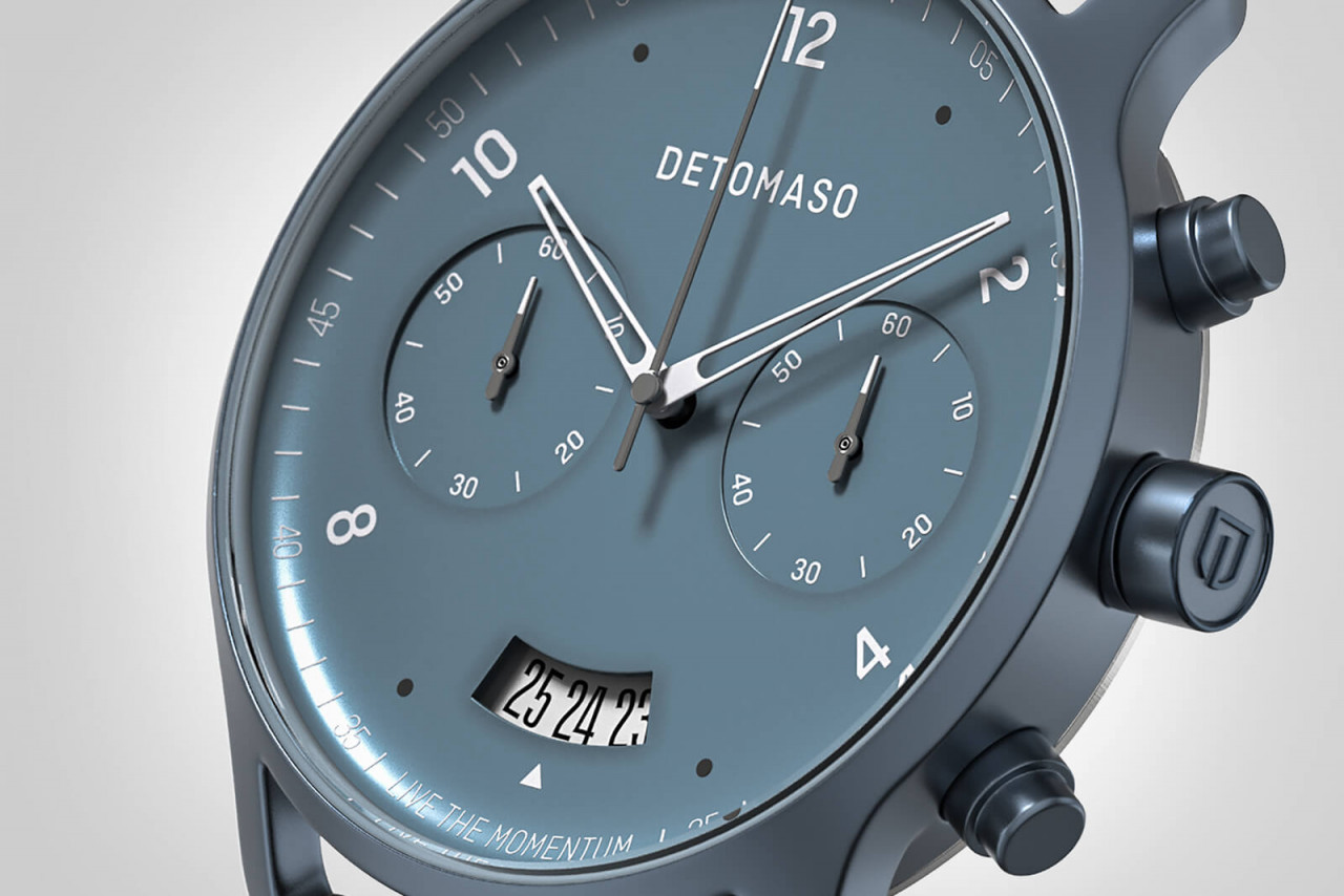 SORPASSO CHRONOGRAPH BLUE - LEATHER STRAP BLUE