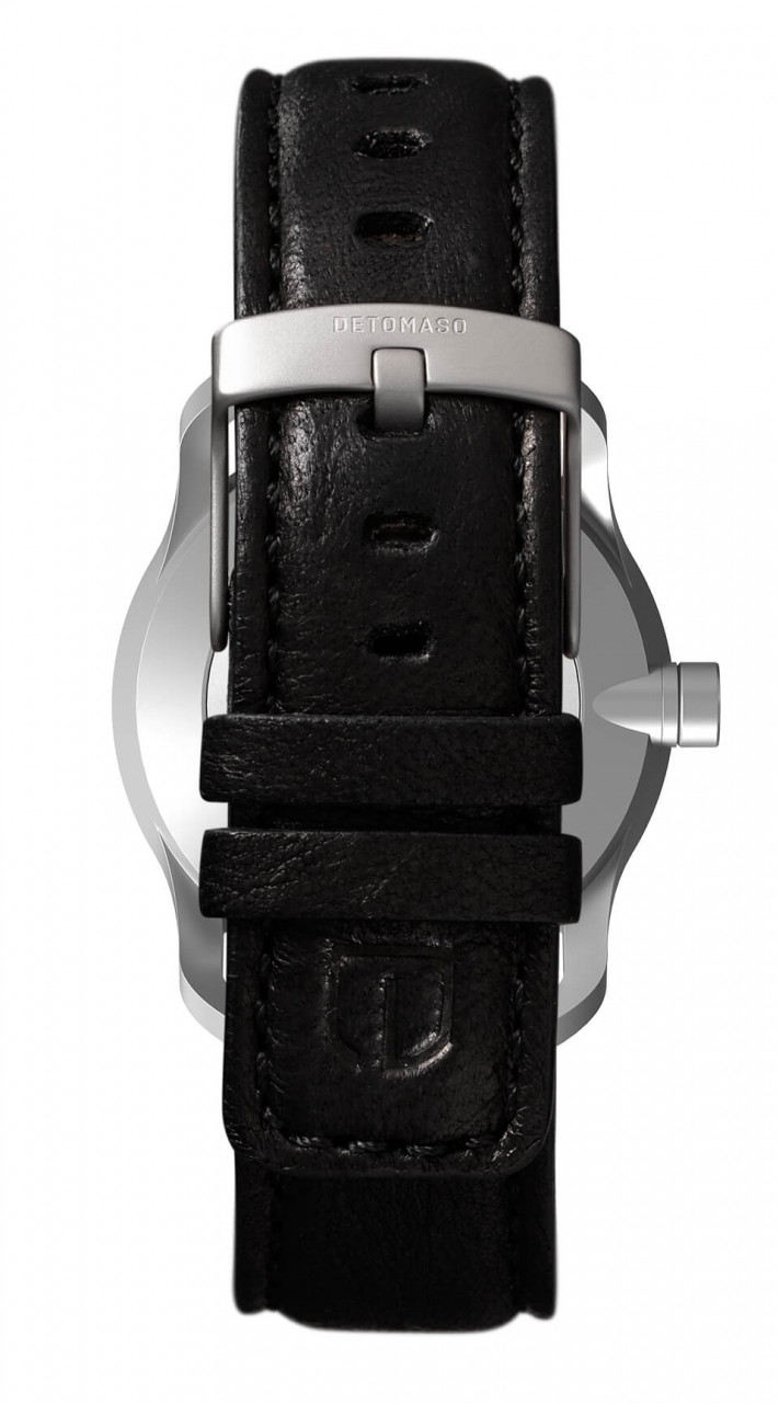 PARTENZA GREEN - LEATHER STRAP BLACK
