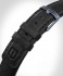 LEATHER STRAP BLACK - Schließe: blau