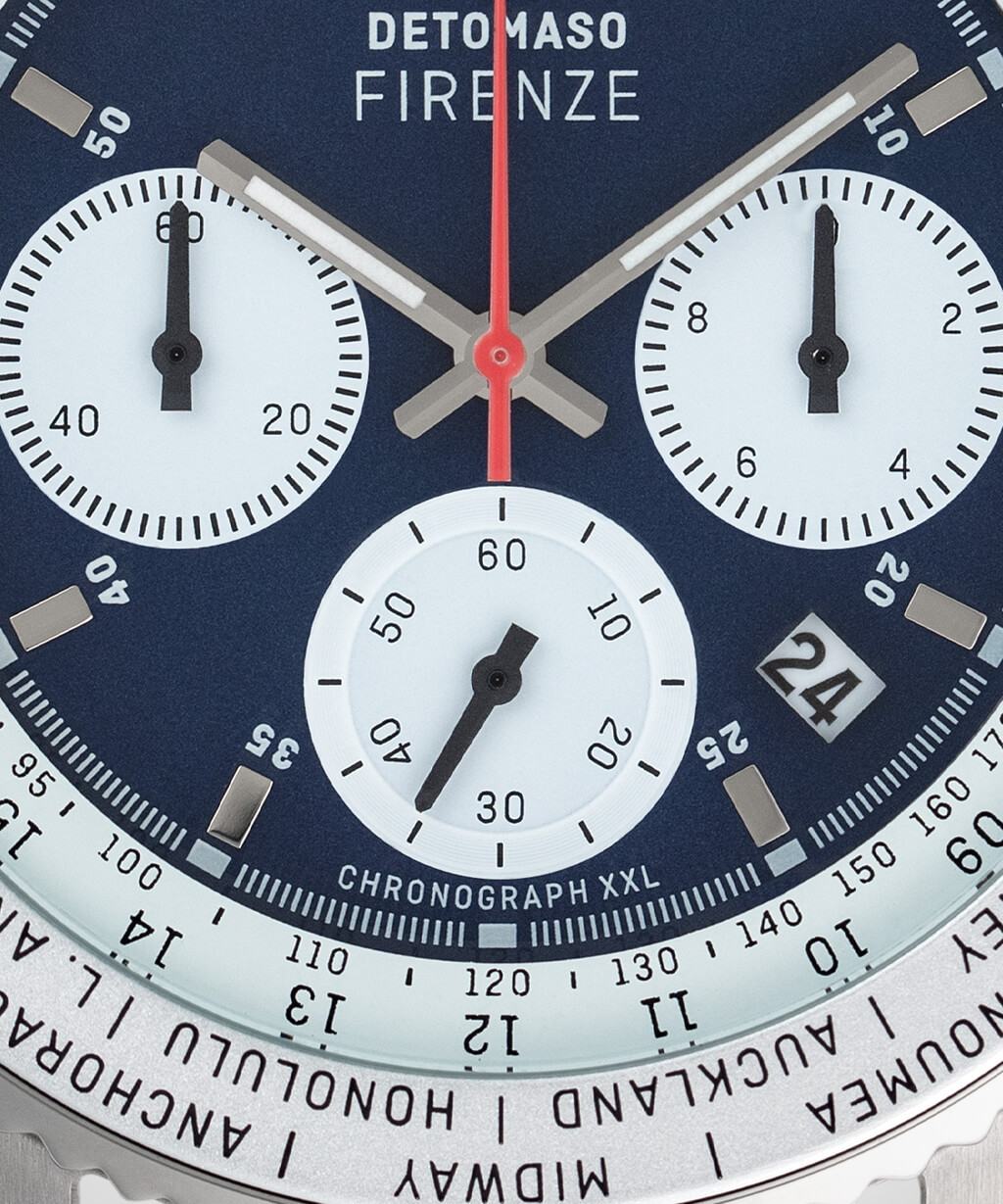 FIRENZE XXL CHRONOGRAPH BLUE - LEATHER STRAP BLUE