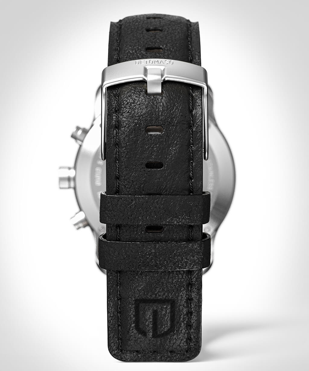 SORPASSO GREEN - LEATHER STRAP BLACK